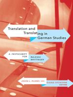 Translation and Translating in German Studies