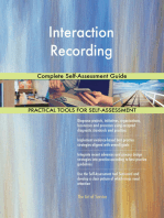 Interaction Recording Complete Self-Assessment Guide
