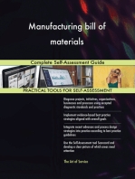 Manufacturing bill of materials Complete Self-Assessment Guide