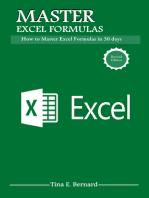 Microsoft Excel Formulas: Master Microsoft Excel 2016 Formulas in 30 days