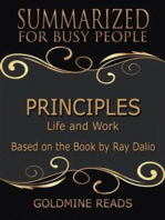 Principles - Summarized for Busy People