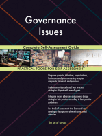 Governance Issues Complete Self-Assessment Guide