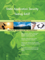 Static Application Security Testing SAST Standard Requirements