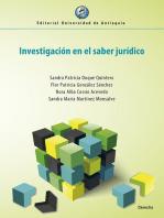 Investigación en el saber jurídico