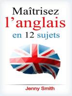 Maîtrisez l'anglais en 12 sujets