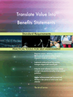 Translate Value Into Benefits Statements Standard Requirements
