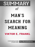 Summary of Man's Search for Meaning by Viktor E. Frankl | Conversation Starters