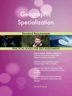 Geographic Specialization Standard Requirements