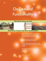 On-Demand Functionality Standard Requirements