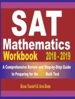 SAT Math Workbook 2018 - 2019