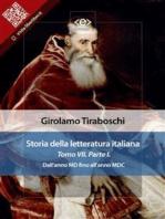 Storia della letteratura italiana del cav. Abate Girolamo Tiraboschi – Tomo 7. – Parte 1