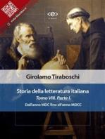 Storia della letteratura italiana del cav. Abate Girolamo Tiraboschi – Tomo 8. – Parte 1