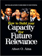 How to Build your Capacity For Future Relevance