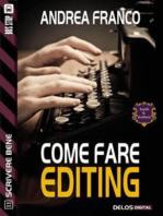 Come fare editing
