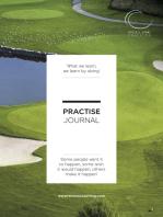 Practise Journal - Your Golfing Practise Bible