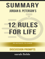 Summary: Jordan B. Peterson's 12 Rules for Life: An Antidote to Chaos