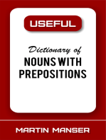 Useful Dictionary of Nouns With Prepositions