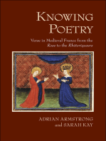 Knowing Poetry