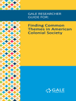 Gale Researcher Guide for: Finding Common Themes in American Colonial Society