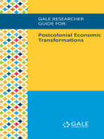 Gale Researcher Guide for: Postcolonial Economic Transformations