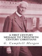 A First Century Message to Twentieth Century Christians