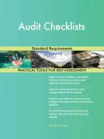 Audit Checklists Standard Requirements