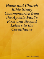Home and Church Bible Study Commentaries from the Apostle Paul's First and Second Letters to the Corinthians