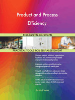 Product and Process Efficiency Standard Requirements