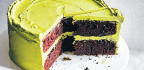 Devil's Food Cake with Matcha Frosting