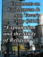 "Comments on Egil Asprem and Ann Taves's Essay (2018) ""Explanation and the Study of Religion"""
