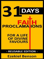 31 Days Faith Proclamations for a Life of Divine Favours