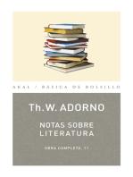 Notas sobre literatura
