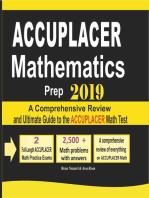 Accuplacer Mathematics Prep 2019