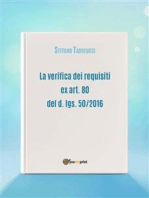 La verifica dei requisiti ex art. 80 del d. lgs. 50/2016