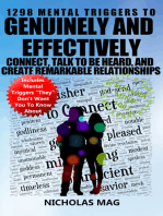 1298 Mental Triggers to Genuinely and Effectively Connect, Talk to be Heard, and Create Remarkable Relationships