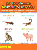 My First German Animals & Insects Picture Book with English Translations