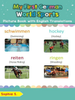 My First German World Sports Picture Book with English Translations