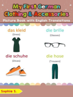 My First German Clothing & Accessories Picture Book with English Translations