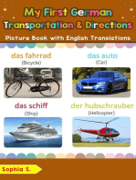 My First German Transportation & Directions Picture Book with English Translations
