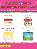My First German Days, Months, Seasons & Time Picture Book with English Translations