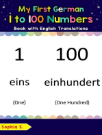 My First German 1 to 100 Numbers Book with English Translations