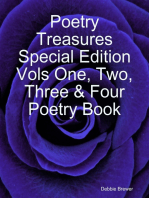 Poetry Treasures Special Edition Vols One, Two, Three & Four Poetry Book