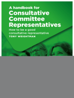 A handbook for Consultative Committee Representatives: How to be a good consultative representative