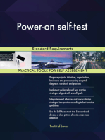Power-on self-test Standard Requirements