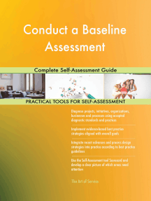 Conduct a Baseline Assessment Complete Self-Assessment Guide