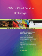 CSPs as Cloud Services Brokerages Complete Self-Assessment Guide