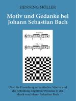 Motiv und Gedanke bei Johann Sebastian Bach