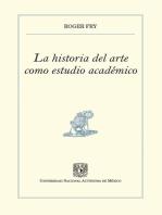 La historia del arte como estudio académico