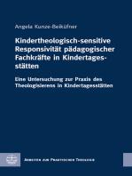 Kindertheologisch-sensitive Responsivität pädagogischer Fachkräfte in Kindertagesstätten
