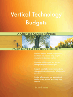 Vertical Technology Budgets A Clear and Concise Reference